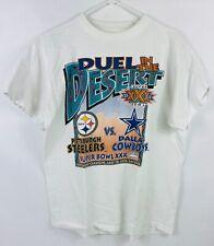 Vintage 1996 Duel In The Desert Super Bowl XXX Shirt Size L