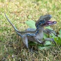 Jurassic Blue Dinosaur Velociraptor Toy Educational Model Gift R2R6