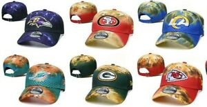 New Era 2020 NFL Teams Marbled Flame Team Adjustable 9TWENTY Sideline Hat Cap