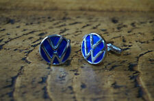 VW VOLKSWAGEN CHROME CUFFLINKS GREAT QUALITY NEW FREE POUCH