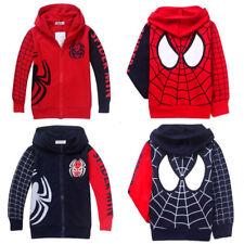 Spiderman Kids Boy Long Sleeve Top Sweatshirt Hoodies Jacket Jumpers Casual Coat