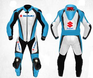 SUZUKI GSXR Racing Biker Leather Suit Motorbike/Motorcycle Leather Jacket Pant