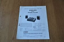 Philips 13GF822 Record Players Workshop Service Manual
