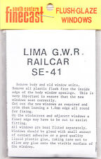 SE Finecast SE41 Flush Glazing Kit for Lima GWR Railcar Coach 00 Gauge -1st Post