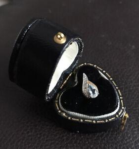 Dainty Aquamarine and Diamond Pendant 375 (9ct) Yellow Gold New