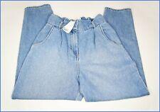 BNWT H&M high waist loose fit mom boyfriend tapered jeans light blue wash sz 10