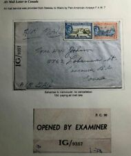 1940s Bahamas Censored Airmail Cover To Vancouver Canada No Cancellation