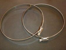 """New listing 2 Pc Stainless Steel 17"""" Hose Duct Clamp Range 12""""-17"""" Hdc450"""