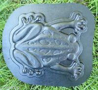 """Frog stepping stone mold 14"""" x 12"""" x 1"""" thick reusable casting mould"""