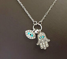 Evil Eye Hamsa Hand of Fatima Pendant Necklace.