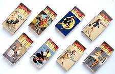 LOT de 8 boite d'allumettes de style vintage PIN UP girl classic retro set