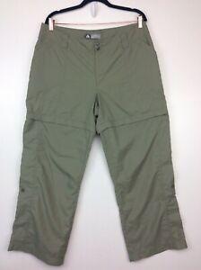 Nike ACG Women's Convertible Zip-Off Hiking Outdoor Pants Shorts Green 14