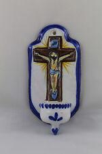 BENDIDERA ceramica de TALAVERA Imagen Cristo Pila Agua Bendita.  21cm x 10,5cm