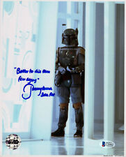 JEREMY BULLOCH SIGNED 8x10 PHOTO + GREAT QUOTE BOBA FETT STAR WARS BECKETT BAS