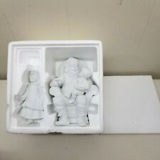 Department 56 A Visit With Santa Winter Silhouette Set Of 2 Ceramic Figurines