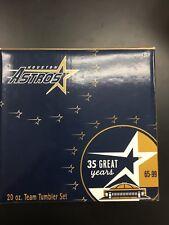 RARE~Houston Astros Baseball 35th Anniversary Ozarka Plastic Cup Set~2 Gift