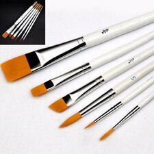 6Pcs Art Painting Brushes Set Acrylic Oil Watercolor Artist Paint Brush Set Kit