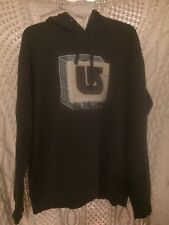 Burton  Brown Hoodie Mens Large Rare Design