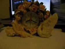 Small Child  &  Swan ** Room Interior, Desk Clock ** Free  Shipping