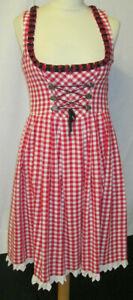 Damen Trachten Kleid Dirndl rot weiß kariert  Gr. 38 von Landhaus