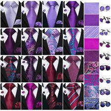 Mens Silk Ties Necktie Set Red Blue Black Gold Purple Geometric Floral Men TIE