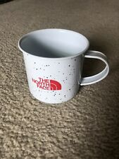 The North Face Logo White / Red Camping Campfire Enameled Coffee Cup Mug Metal