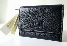 NWT AIMEE KESTENBERG Madrid French Wallet Key Chain Black Leather $58