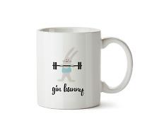 Gin Bunny Mug Funny Alcohol Gym Active Fitness Gift Ceramic Coffee Cup Tea 10oz