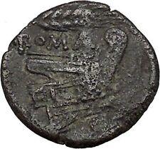 ROMAN REPUBLIC 214BC Uncia Struck Coinage First Series Wheat Ancient Coin i41382