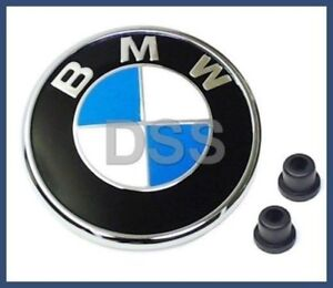 Genuine BMW 323Ci 325Ci 330Ci M3 Trunk Lid Roundel Emblem W/ Grommets OEM