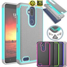 For ZTE Blade Max 3/ZTE Max Blue/ZTE Z986U Phone Hybrid Rugged Hard Case Cover