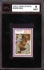 1970 NHL ESSO HOCKEY POWER PLAYERS #1 GLENN HALL KSA 9 MINT ST LOUIS BLUES
