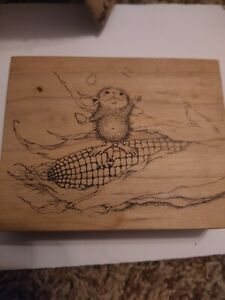 Stampa Rosa House Mouse Rubber Stamp 91 Juggling Corn(Amanda)  1998 Z16