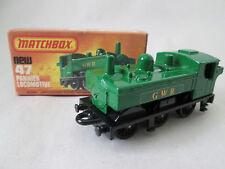 1978 Matchbox 75 Superfast Green GWR Pannier Locomotive LOCO #47 England - MIB