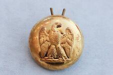 19th C French Army Uniform Button Napoleon Eagle Waterloo
