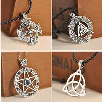 Fashion Pentacle Pentagram Star Solar Cross Pendants Necklace Jewelry 5 Choice