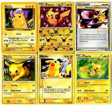 CARTE POKEMON lot de 6 cartes PIKACHU English Cards incl. 1 HOLO Lot N° PIKA6 56