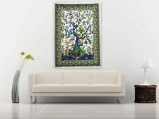 Indian Small Tapestry Tree Of Life Poster Wall Hanging Cotton Table Cloth Throw