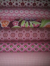 "(20,72€/m²) Stoffpaket 6 x (0,25m x 0,45 m) "" rosa ""  Patchwork,Bw,Stoffe"