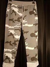 Stylish Italian Women Ladies camo elastic Waist Trouser Jogger UK Size 10-16