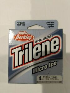 Berkley Trilene Micro Ice 4 lb test 110 yards clear steel NIP