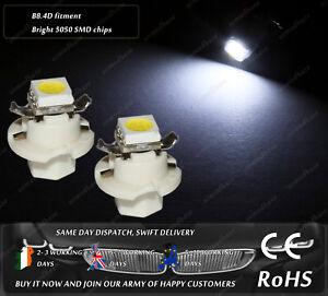 LED B8.4D White Dashboard Cluster Speedometer Instrument Gauge Light Bulbs 12v