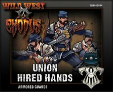 Wild West Exodus: Union - ARMORED GUARDS Boxed miniature set NIB  !!