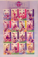 3 x AFL: FOOTBALL  STAMP PACKS with 16 MINT STAMPS  CHEAP!!