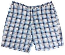 SHARK GREG NORMAN Tasso Elba Blue Red White Plaid Golf Shorts Men's 40 Slim Fit