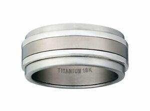 Dolan Bullock Tuscany titanium  18k gold  ring nrg014000c msrp $350