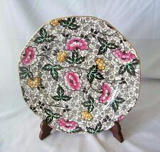 "Vintage Jacobean by F Winkle England Porcelain 8 5/8"" Plate # 8897 / Enameled"