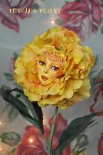 "ALICE IN WONDERLAND RESIN TALKING FLOWERS ""GOLDEN PETALS"" BY SUTHERLAND"