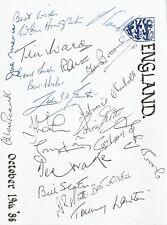 More details for england 1988 multi signed reunion card inc joe mercer, 22 in total aftal/uacc rd