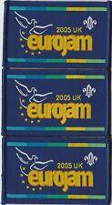 ** CLEARANCE ** 3 x 2005 UK Eurojam Scout Badges